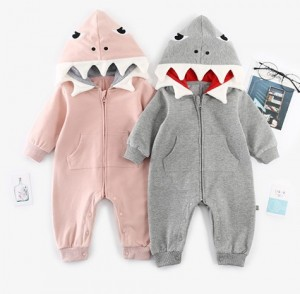 Baby Jumpsuit Shark Costume