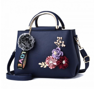 Flowers Shell Women Tote Leather Clutch Bag