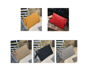 WOMEN SOLID COLOR CLUTCH BAG