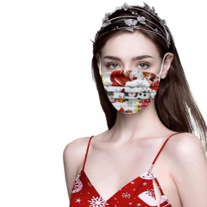 50pcs Disposable Christmas Face Cover