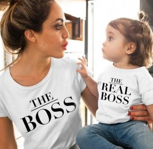 Mommy Daughter Clothing Summer Short Sleeves T-shirt