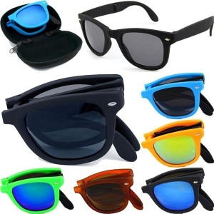 POLARIZED SUNGLASSES WOMEN FASHION FOLDING SUN GLASSES WITH CASE