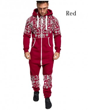 Men's Warm Fluffy Christmas Pajamas