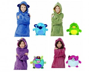 Plush Blanket Warm Hoodie For Kid