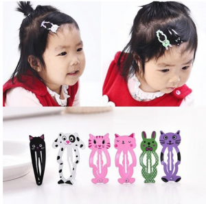 Animal Hairpin 6pcs Headwear Kids Hair Clips