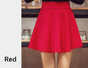 Women Pleated Mini Skirt with Shorts