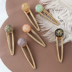FASHION WOMEN VINTAGE ACRYLIC BARRETTE HAIR CLIP HAIRPINS