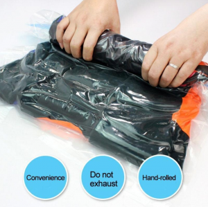 Vacuum Storage Bag Travel Reusable Roll Up Bags