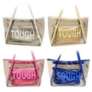 COOL TRANSPARENT BEACH BAG