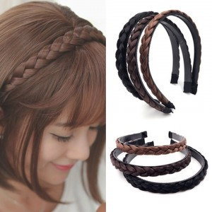 WOMEN PLAITED HEADBAND BRAIDED HAIR BANDS