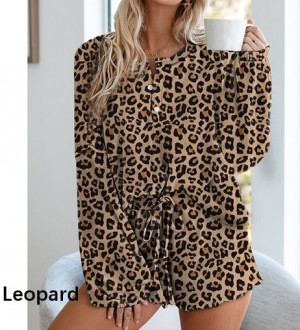 Womens Dye Printed Short Pajamas Set