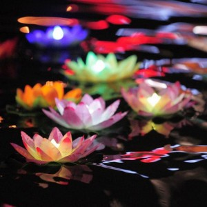 Colorful LED Floating Water Wishing Light