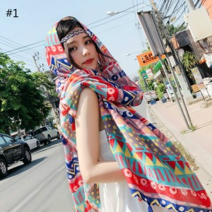 WOMEN BEACH COTTON SHAWL SCARF