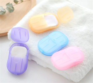 Portable Paper Soap Sheet Hand Wash Mini Travel Soap With Box