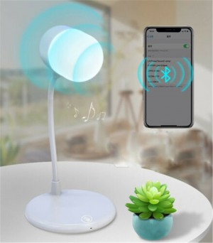 Smart LED Lamp Wireless Charger Bluetooth Speaker