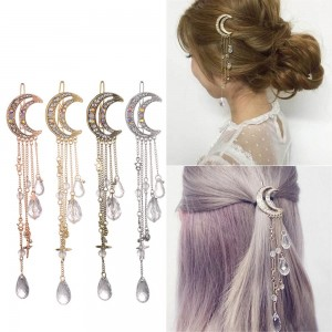 MOON CRYSTAL DANGLE HAIR CLIP