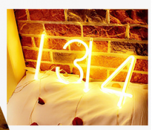 LED Number Sign Art Light Party Decor