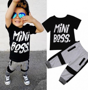 Casual Toddler Boy T-shirt Pants Set