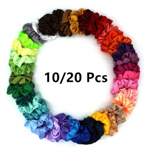10/20 PCS FASHION ELASTIC SATIN HAIRBANDS PONYTAIL HAIR ROPE