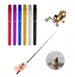 Portable Telescopic Pocket Pen Shaped Fishing Rod Reel