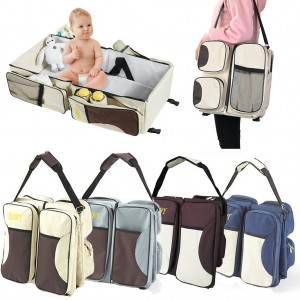 3 in 1 Diaper Bag Travel Bassinet Change Station