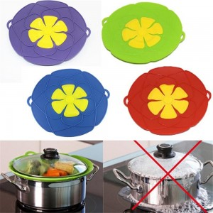 Kitchen Gadgets Silicone Lid Spill Stopper