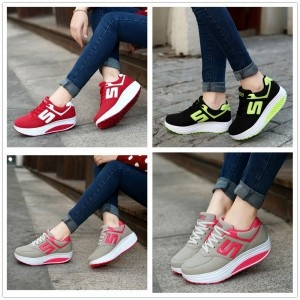 Women's Fashion Wedge Running Shoes