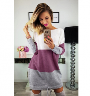 Womens Holiday Knit Long Sleeve Casual Dress
