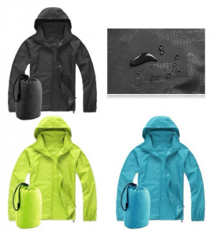 Waterproof Sunscreen Jacket Unisex Oversize Light Rain Coat