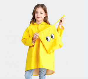 Funny Cute Children Dinasour Raincoat Waterproof Jacket