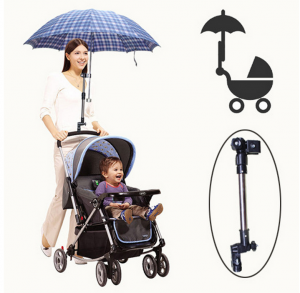 Adjustable 2 Section Tube Umbrella Stand For Babby Stroller