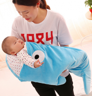 Baby Sleeping Bag Fish Bedding Wrap Cotton Swaddle Blanket