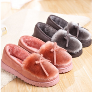 Women Home Fur Warm Slippers Winter Plush Shoes