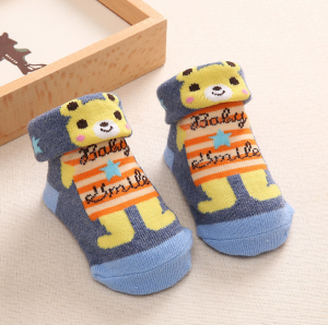 Newborn Baby Non-slip Socks Shoes Cotton Cartoon