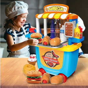 Kids Barbecue BBQ Ice Cream Shop Toys Cooking Fun Gifts