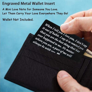Engraved Wallet Inserts Card Men Gifts