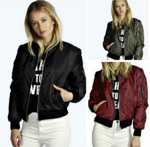 Women Fashion Winter Short Jacket Outwear Pilot Coat