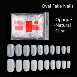 600Pcs Full Size 10 Sizes Oval Fake Nails For Nail Art