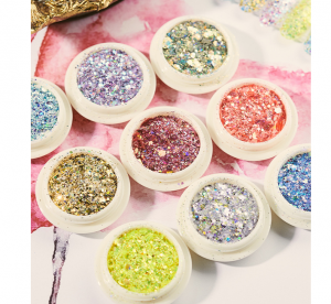 1 Box Shimmer Gradient Glitter Sequins Decoration For Nail Art Beauty