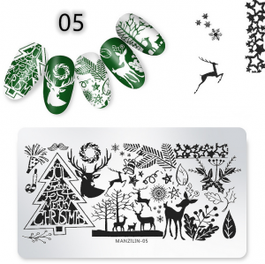Nail Art Stamping Plates Flower Template Metal Stencils