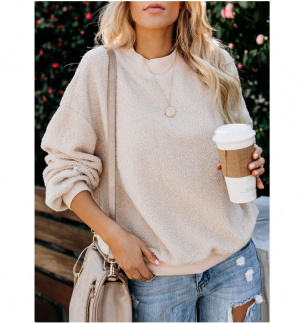 New Winter Fashion Fleece Sweater Pullover Women Tops