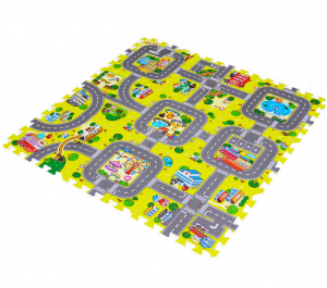 9Pcs/Set Kids Cartoon Rug Puzzle Mat Baby Play Toys