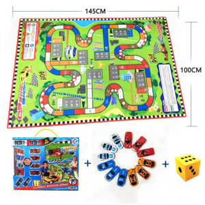 Baby Play Mat Puzzle Children Carpet Dice + 12Pcs Cars
