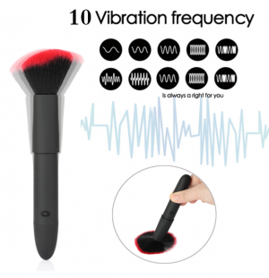 Make Up Brush Shape Vibrator Body Massager Adult Sex Toys