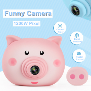 Kids Digital Cute Pig Camera HD Portable Record Gifts Toys