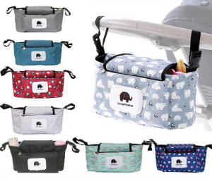 Baby Stroller Organizer Waterproof Carriage Diaper Bag