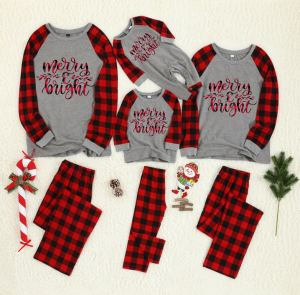 Christmas Family Pajamas Set Mother Father Kids Baby Sleepwear Outfits
