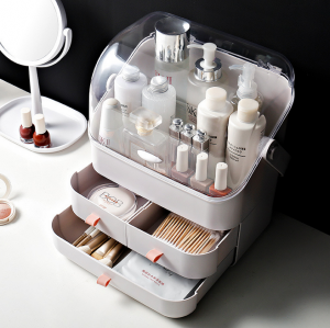Portable Makeup Desk Storage Case Organizer Drawer Box