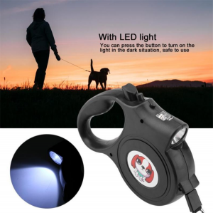 5M Retractable Automatic Traction Rope With Light For Pet Leashes