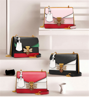 Luxury Women Elegant Retro Bee Decor Chain Handbag Crossbody Bags